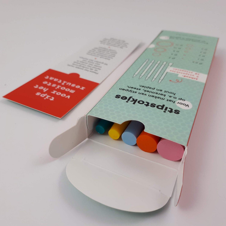 Stipstokjes stipstijl in verpakking met top tips stippen