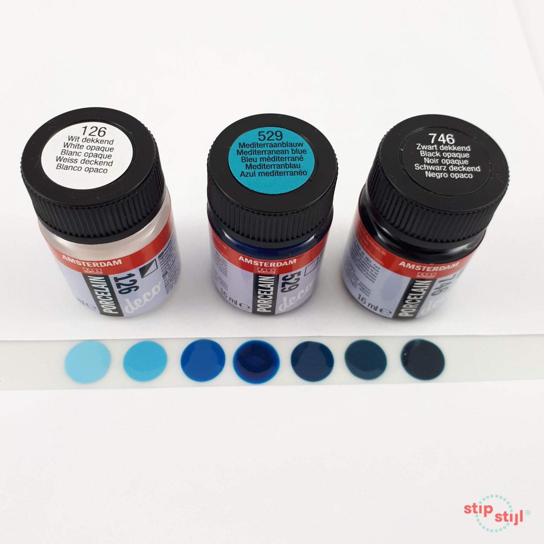 porseleinverf 529 kleurvariaties Stipstijl