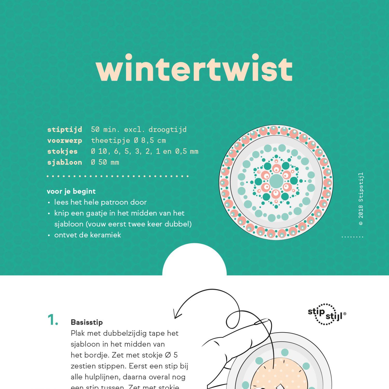 Stipstijl Patroon Wintertwist
