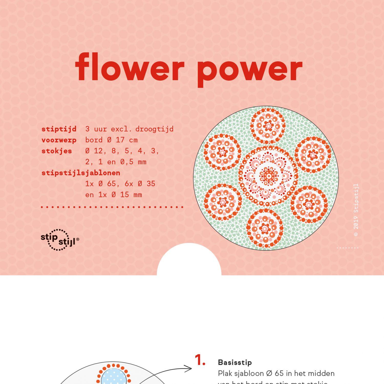 Stipstijl Patroon Flowerpower