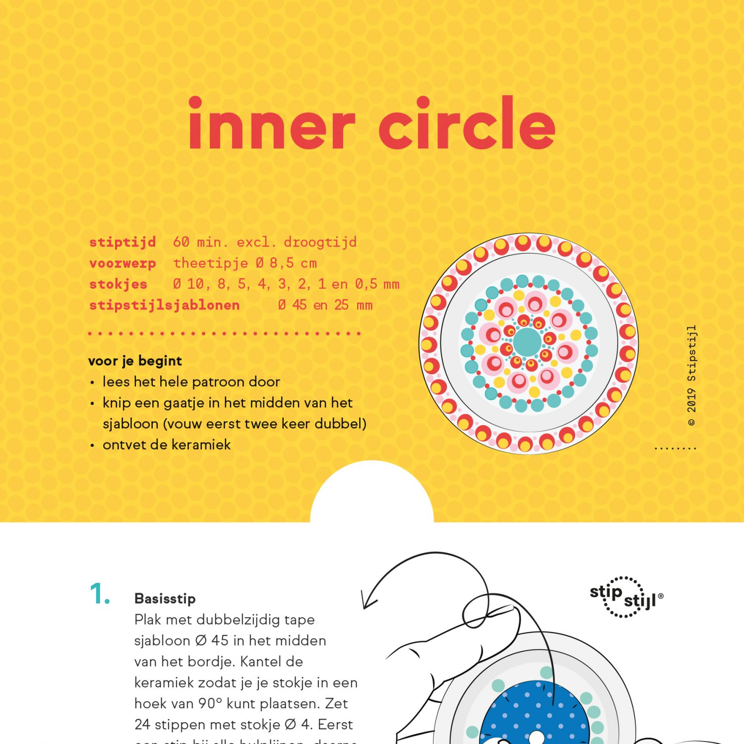 Stipstijl patroon Inner Circle 1