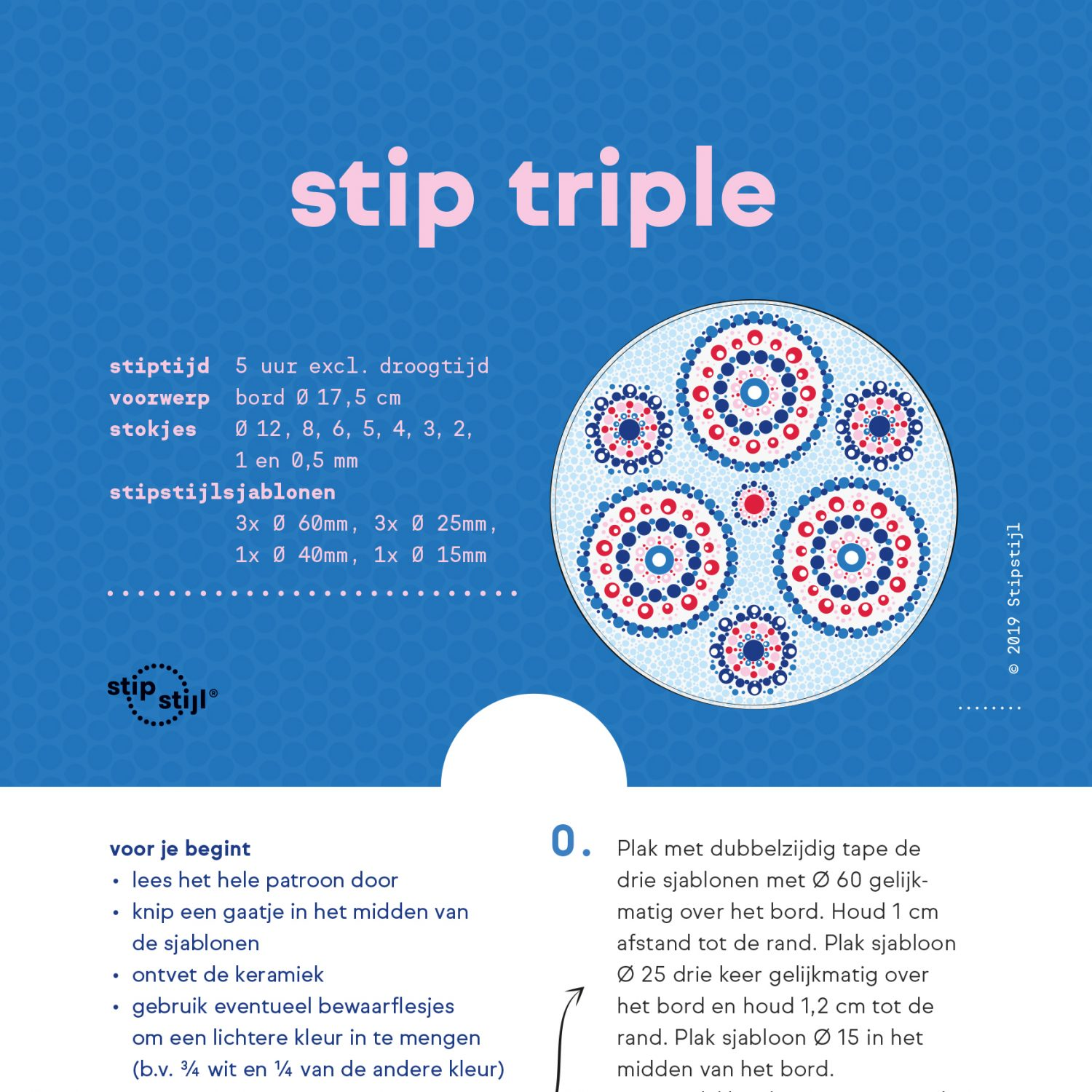 Stipstijl patroon Stip Triple 1