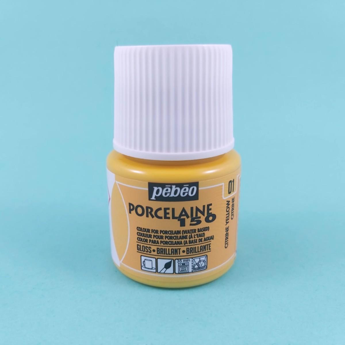 Pébéo Porseleinverf Stipstijl 01 - Citrine Yellow