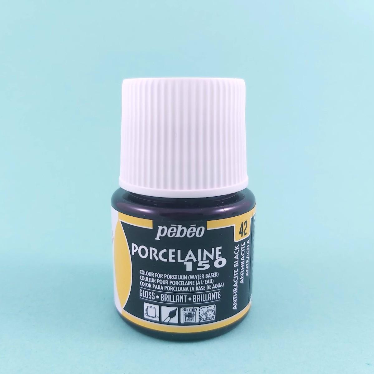 Pébéo Porseleinverf Stipstijl 42 - Anthracite Black