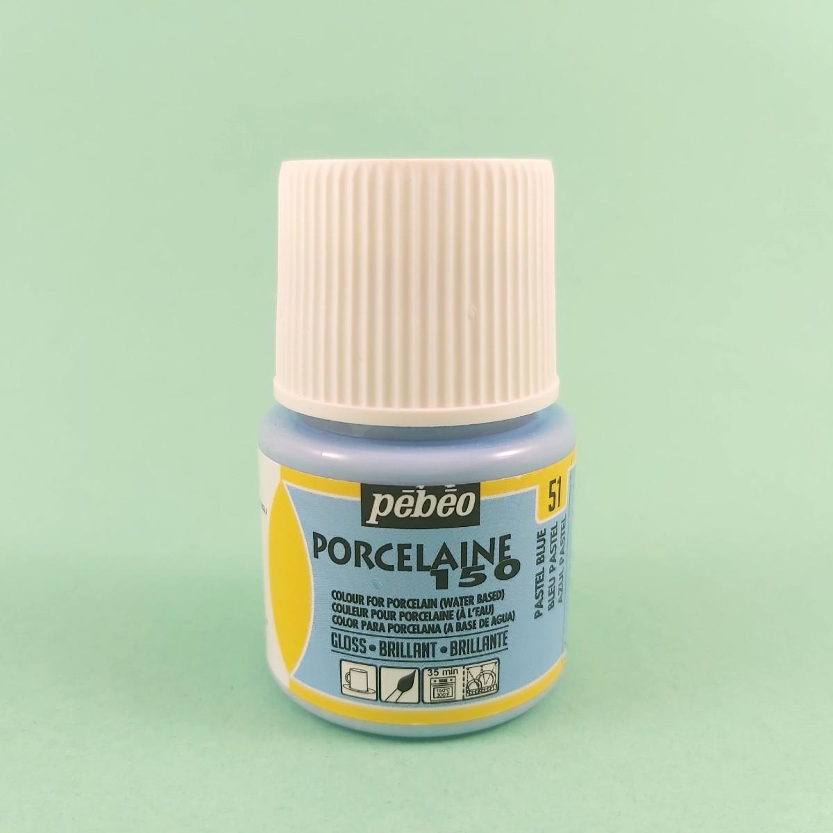 Pébéo Porseleinverf Stipstijl 51 - Pastel Blue